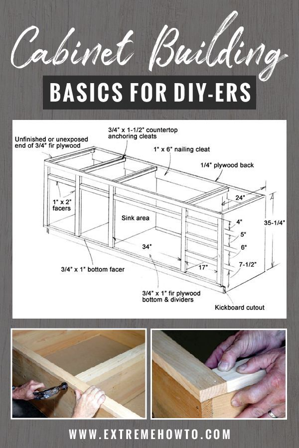 Cabinet Building Basics for DIY'ers - Extreme How To