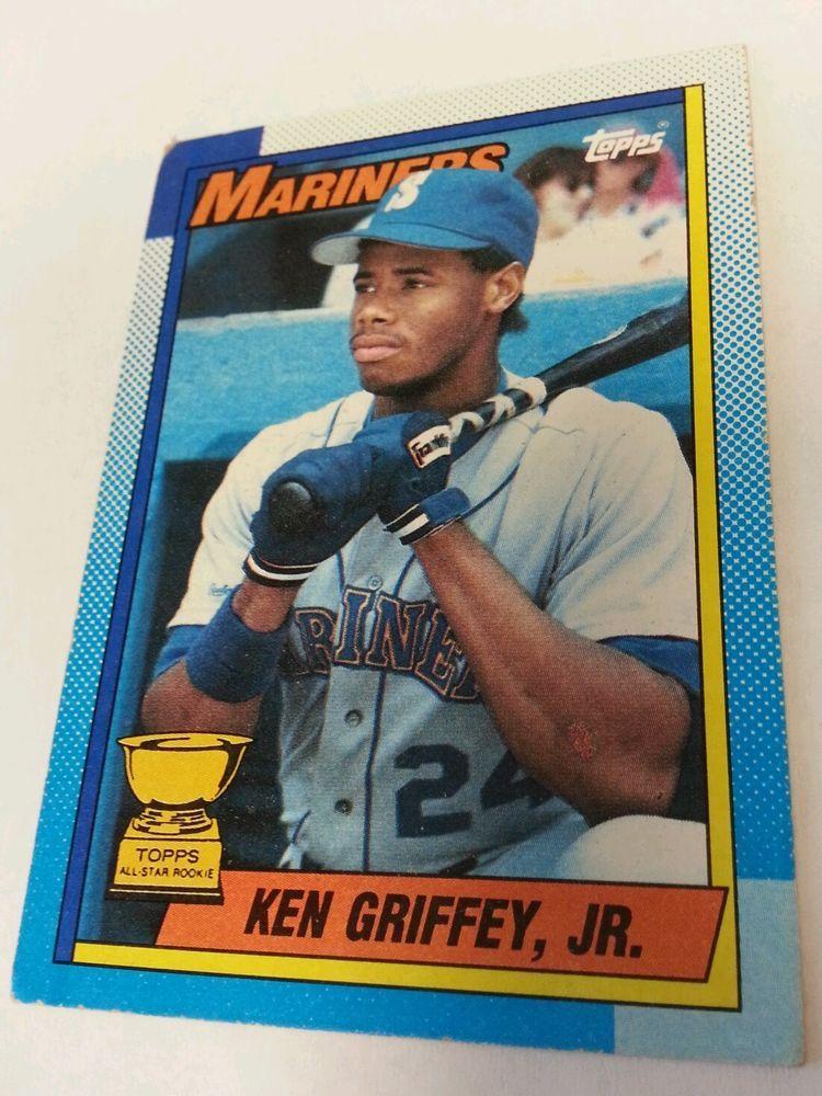 1990 topps 336 ken griffey jr rookie rc seattle mariners