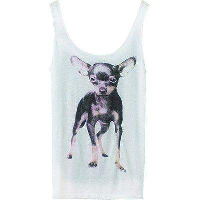 24,90EUR Tanktop Shirt mit Chihuahua Druck