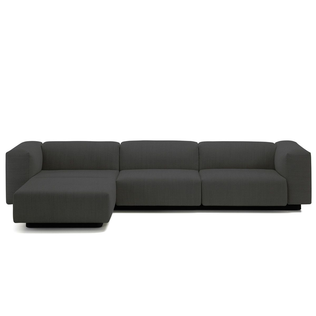 Schlafsofas Vitra Vitra Soft Modular Sofa 3 Sitzer Mit Chaiselongue Links