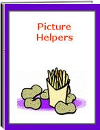 """The eWorkbook titled """"Picture Helpers"""" consists of 17 pages. This set of worksheets include: writing and developing stories using lists of words, pictures, and much more. The student must write about a specific subject with visual aids and activities. Students improve their creativity, thinking, sentence writing, and word skills."""