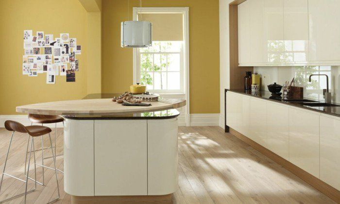 Sie Richten Gerade Eine Neue Küche Ein? Sind Sie Also Auf Der Suche Nach Küche  Streichen Ideen,ziehen Sie Creme In Erwägung Auf Jeden Fall! Sowohl Für  Boden