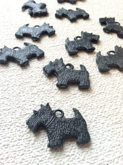 7d3087738 Black Scottie Dog Charms Scottish Terrier Pack of by slayhearts ...