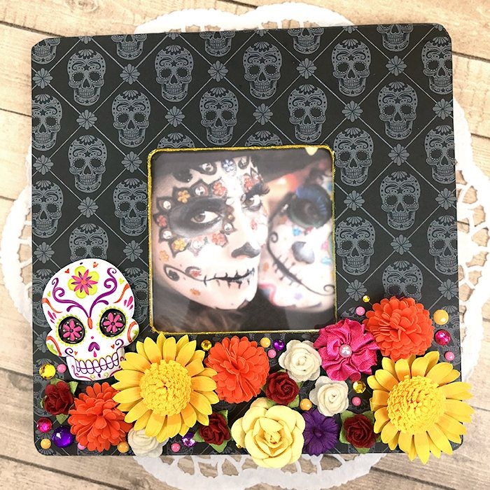 Day Of The Dead Photo Frame Dia De Los Muertos Remembrance