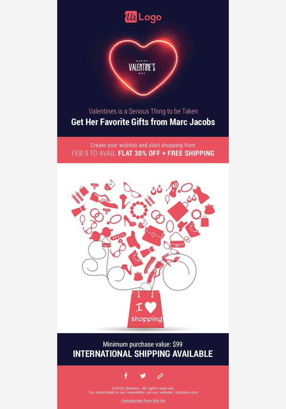 Valentine S Day Email Templates Free Responsive Email Templates Responsive Email Template Free Email Templates