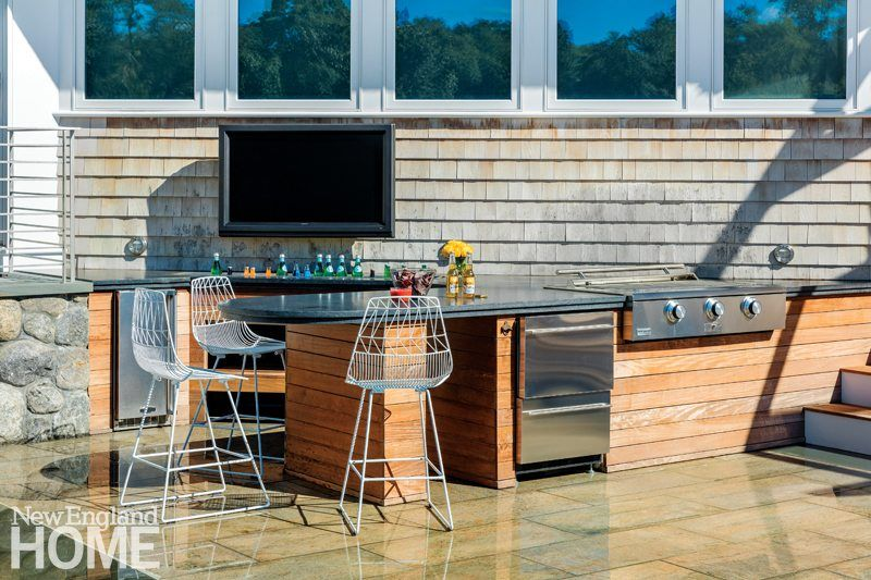 Outdoor Kitchen Against Cedar Siding Wall Google Search Outdoor Entertaining Spaces Entertaining House