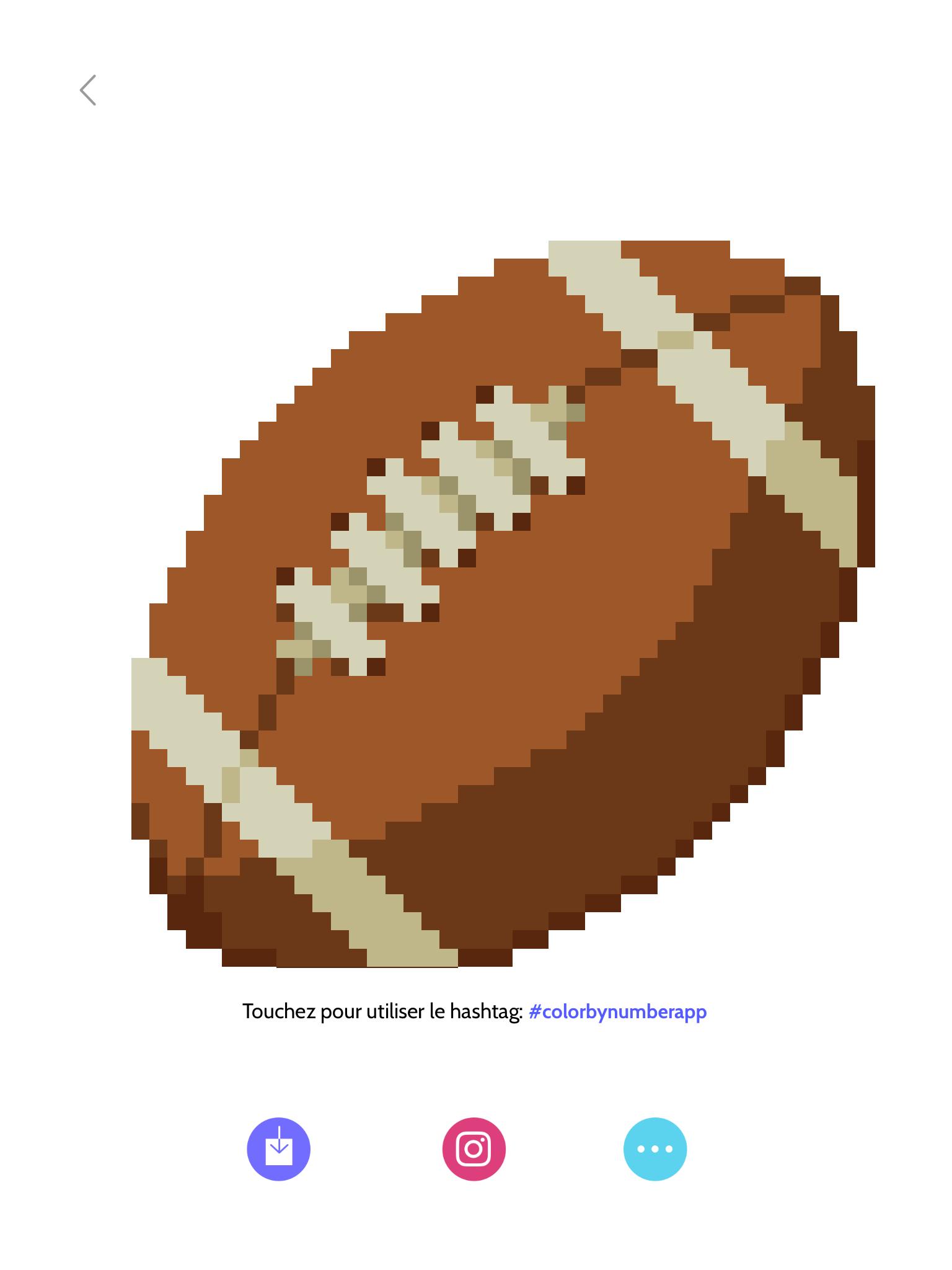 Ballon De Football Américain En Pixel Art