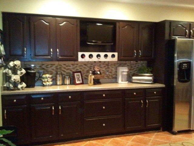 Staining Kitchen Cabinet Refresh Kitchen Kitchen Interior Staining