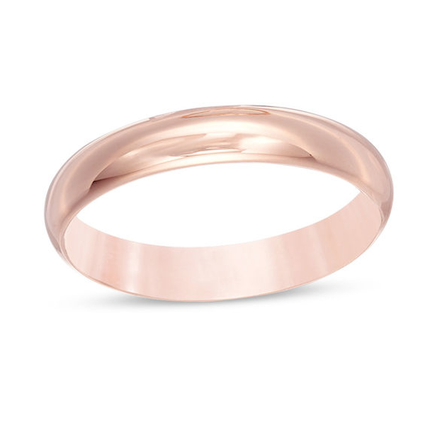 Men S 4 0mm Lightweight Comfort Fit Wedding Band In 10k Rose Gold Wedding Rings Wedding Bands Rose Gold