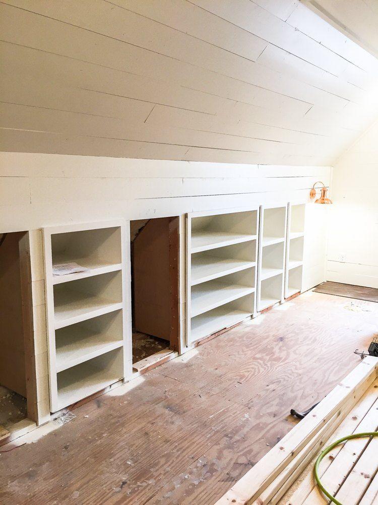 Transforming An Unused Attic Into An Amazing Office Space Attic Remodel Attic Flooring Attic Renovation