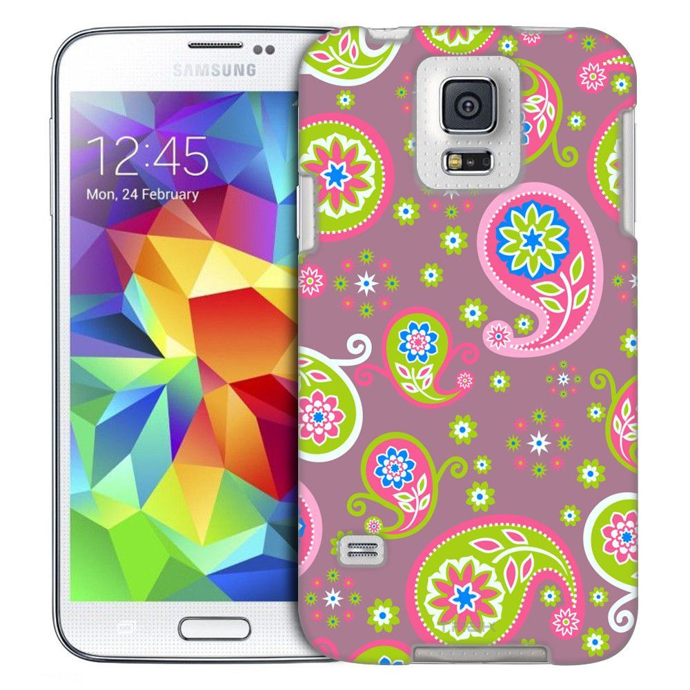 Samsung Galaxy S5 Cute Paisley on Lavender Slim Case
