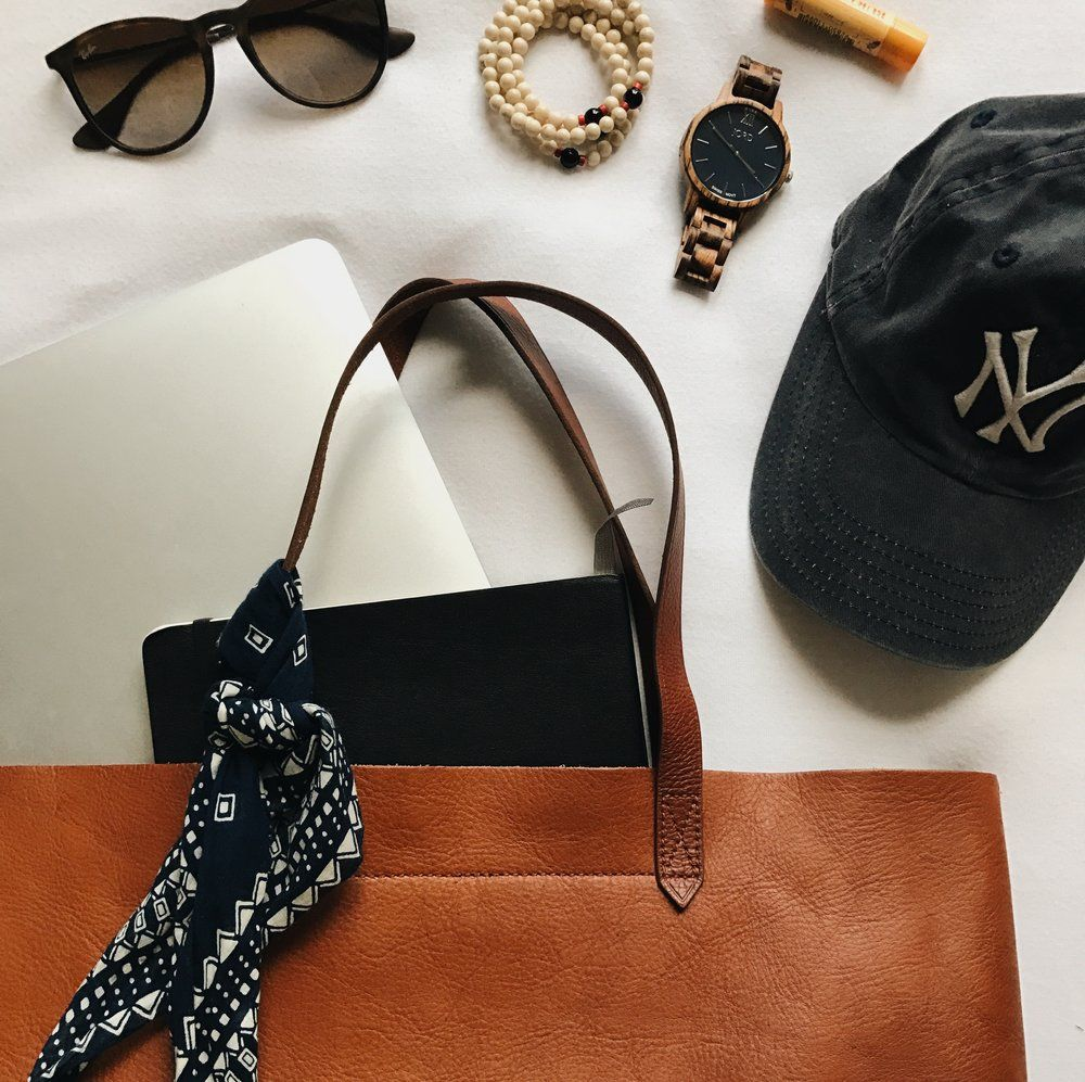 madewell // totewell // transport tote // urban outfitters // ray bans // erika sunnies // victoria emerson design // burts bees // jord watch // wood watch