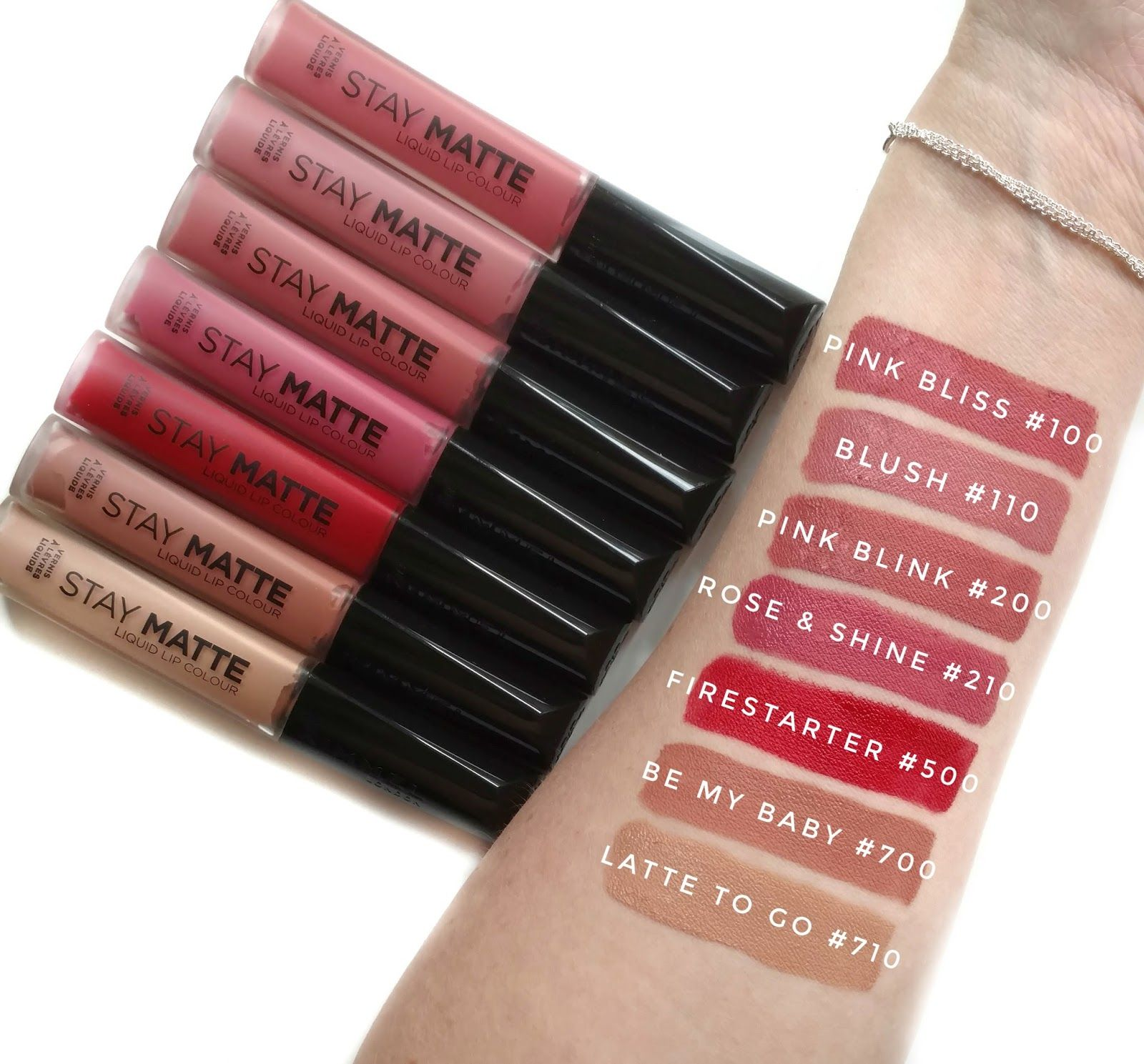 a0cd494b2e3 Rimmel London Stay Matte Liquid Lipstick swatches | Makeup Swatches ...