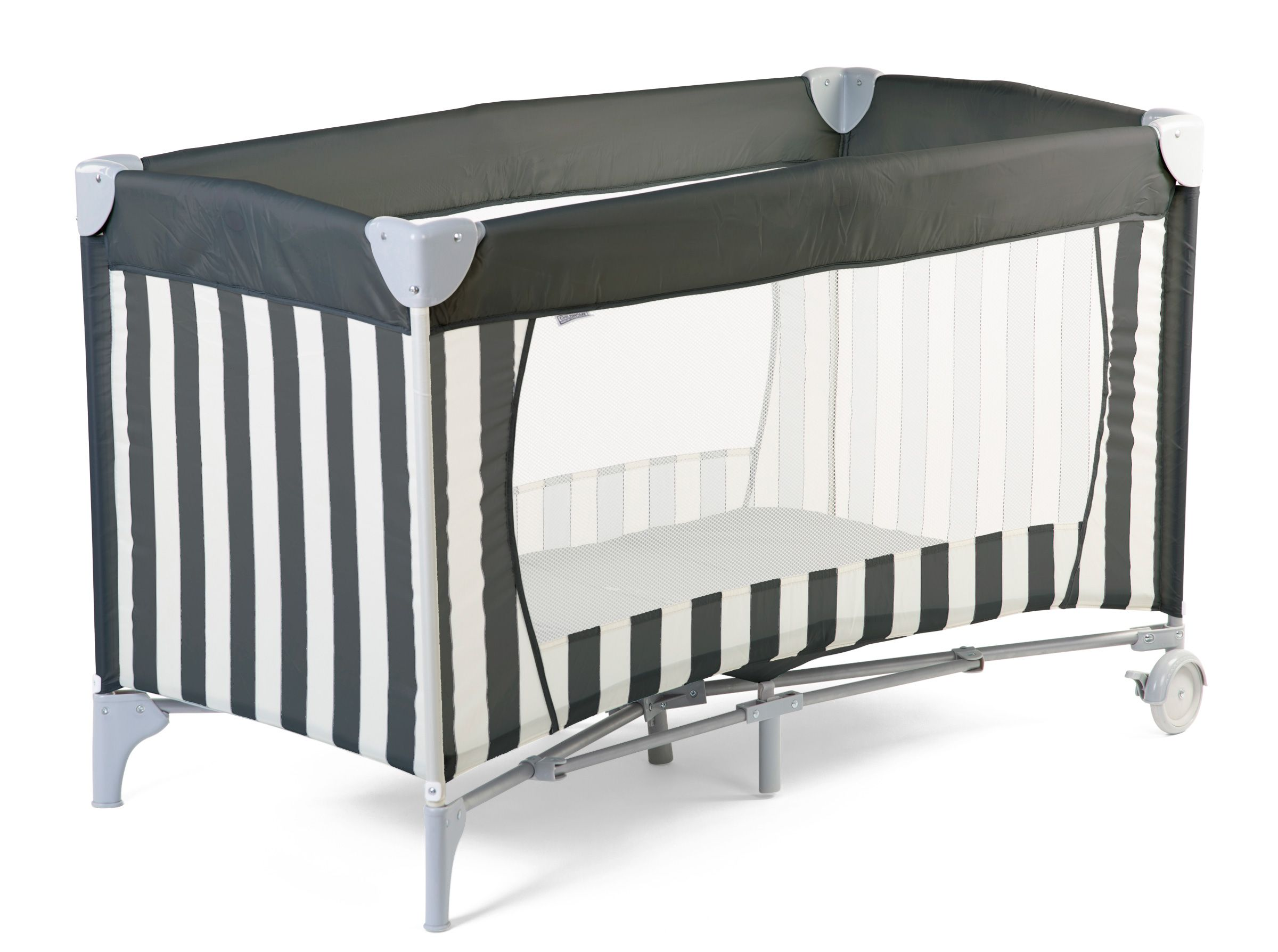 Travel Cot Bed - 2 Bottoms - 60x120 Cm - Canvas - Grey in 2020 | Cot  bedding, Travel cot, Thin mattress