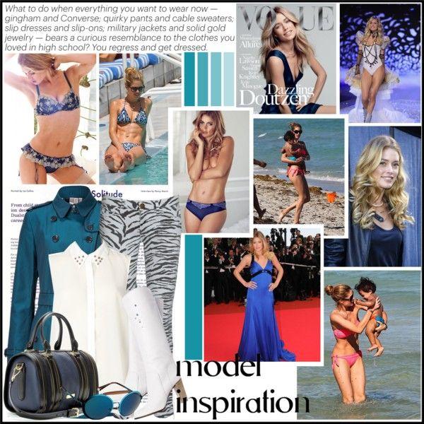 """""""Model Inspiration: Doutzen Kroes"""" by yamyiy ❤ liked on Polyvore"""