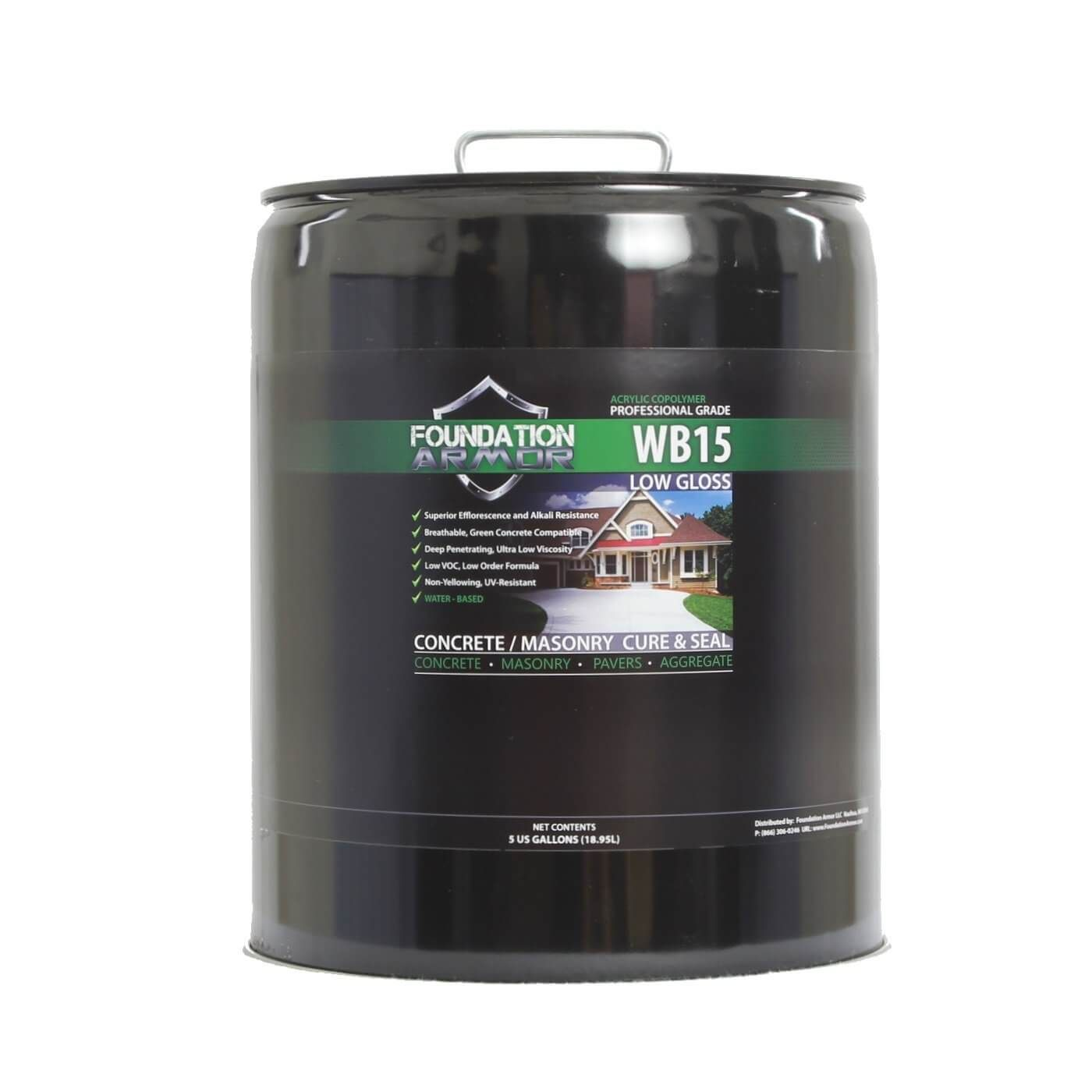 Armor WB15 Low Gloss Water Based Acrylic Concrete Sealer