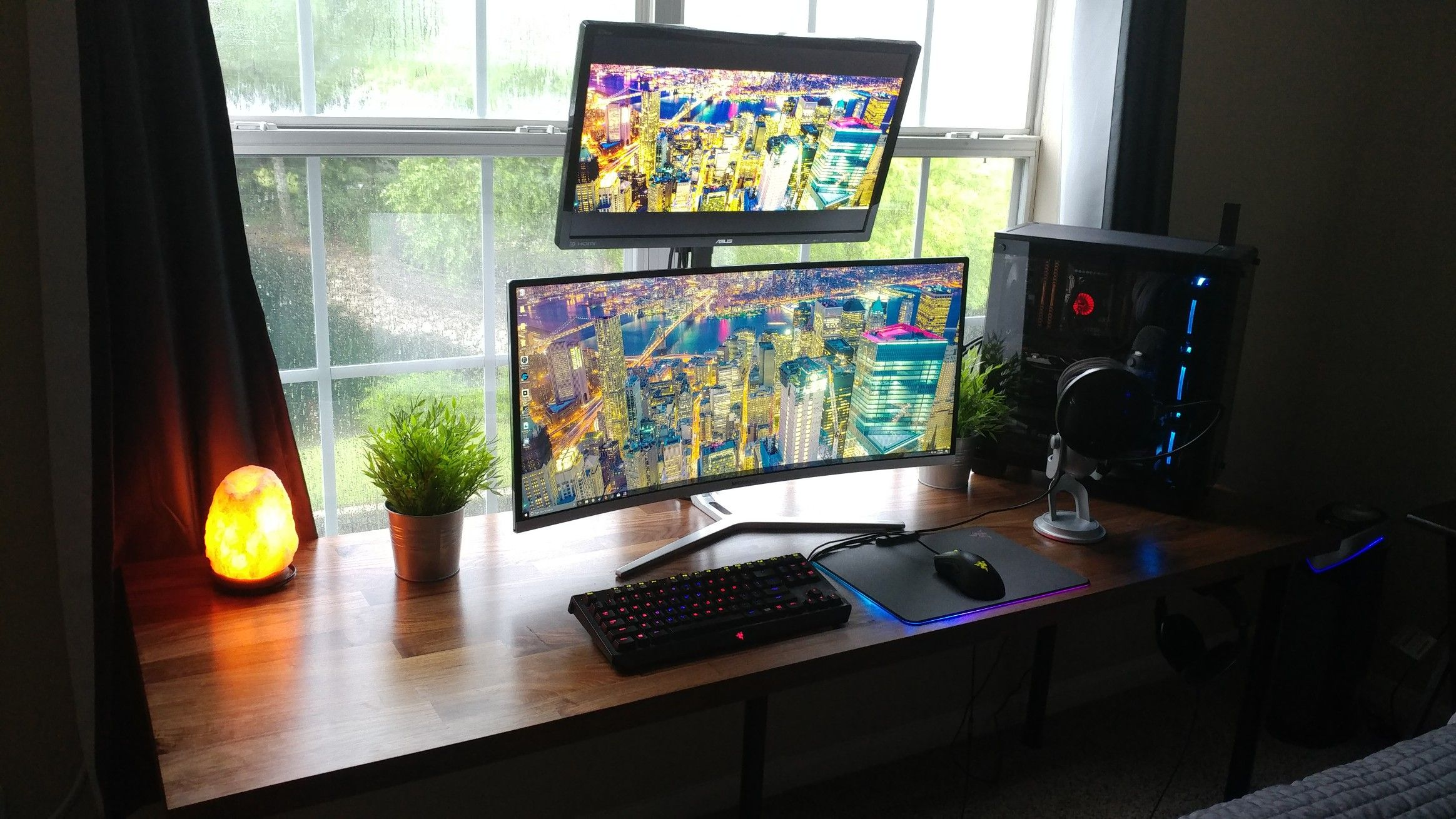 Pc Gaming Streaming Setup Ikea Countertop Used As A Tabletop