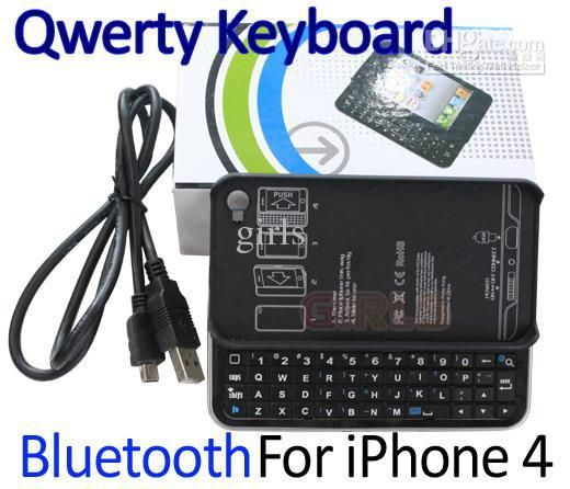 Wholesale Bluetooth Qwerty Keyboard Wireless Slide Keyboard Buddy Case Slide-out for iPhone 4 4G 4th Black, Free shipping, $20.03-21.77/Piece | DHgate