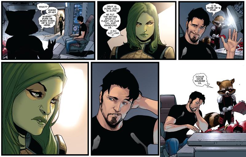 Tony Stark, Rocket Raccoon, and Gamora | Guardians of the ...