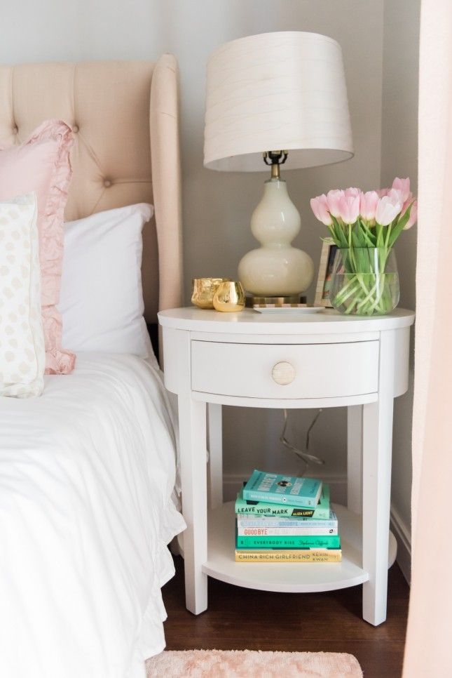 This Fashion Blogger's Bedroom Makeover Is Super Stylish *and* Budget-Friendly via Brit + Co