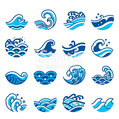 Set Of Ocean Wave Icon Vector Modern And Traditional Sea Wave Style Waves Icon Wave Illustration Ocean Wave Drawing