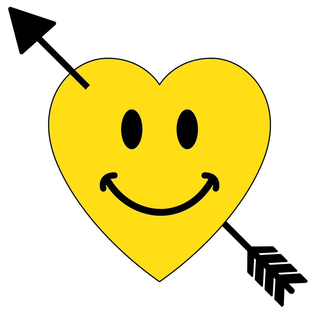 smiley face with a heart - clipart best   hearts ♥ l♥ve