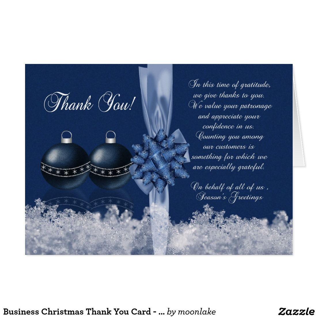 Business christmas thank you card seasons greet season business christmas thank you card seasons greet kristyandbryce Image collections