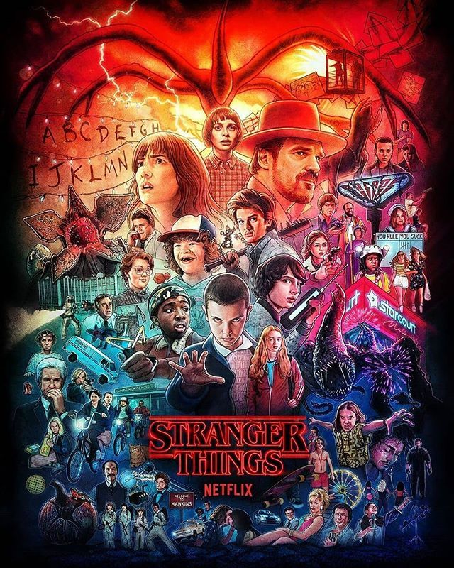 Stranger Things Poster Season 1 2 3 Looking For Artist To Credit Stranger Things Poster Stranger Things Season Stranger Things Wallpaper The series begins with the disappearance of a young boy named will byers as he was returning home. stranger things poster season 1 2 3