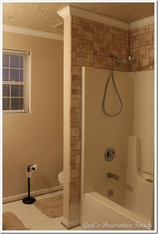 Crown Molding And Tile Is Up In Master Bathroom Bathroom Remodel Tile Crown Molding Bathroom Master Bathroom