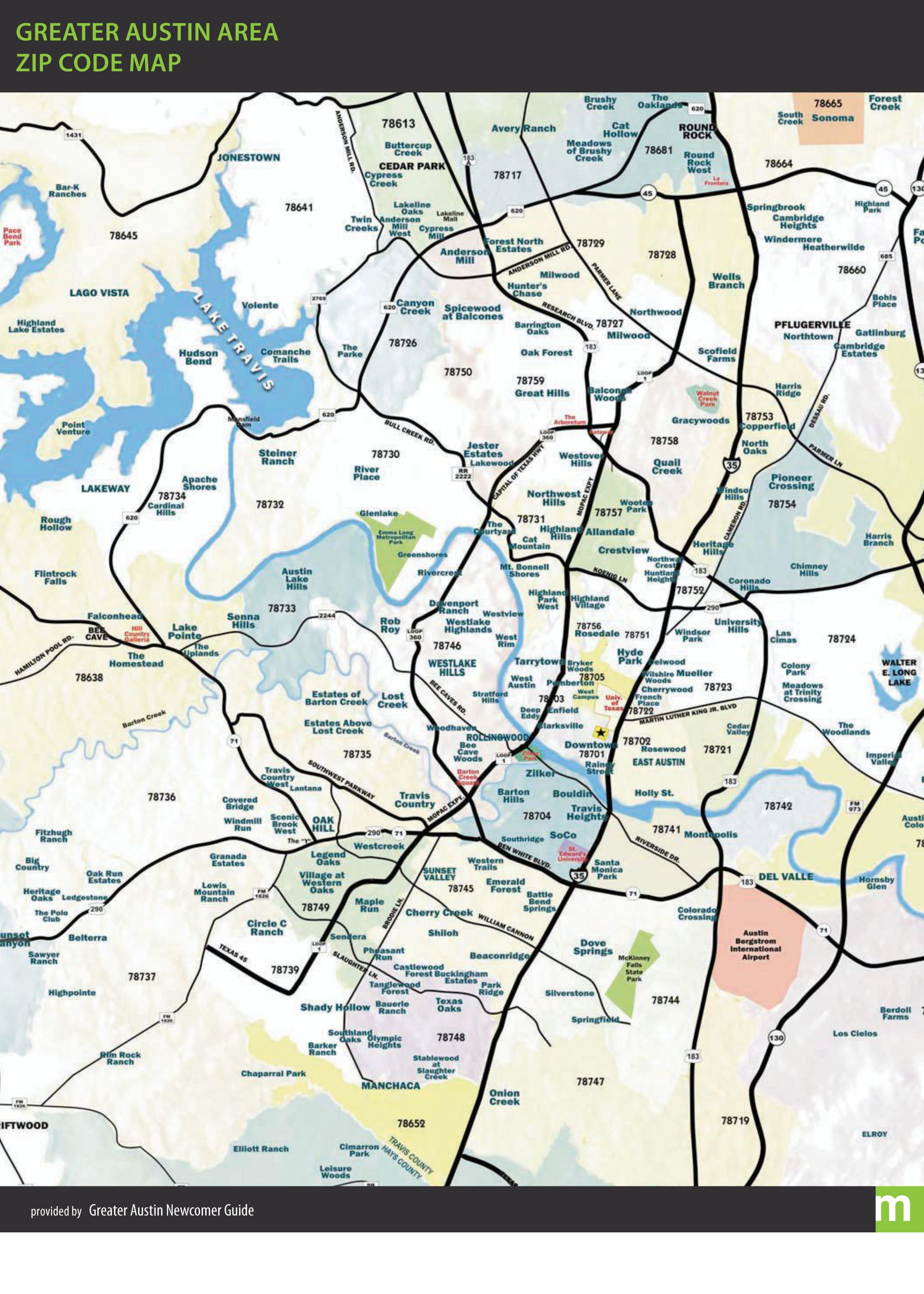 Austin Zip Codes Map Greater Austin Zip Code Map | MORE Maps in 2019 | Zip code map