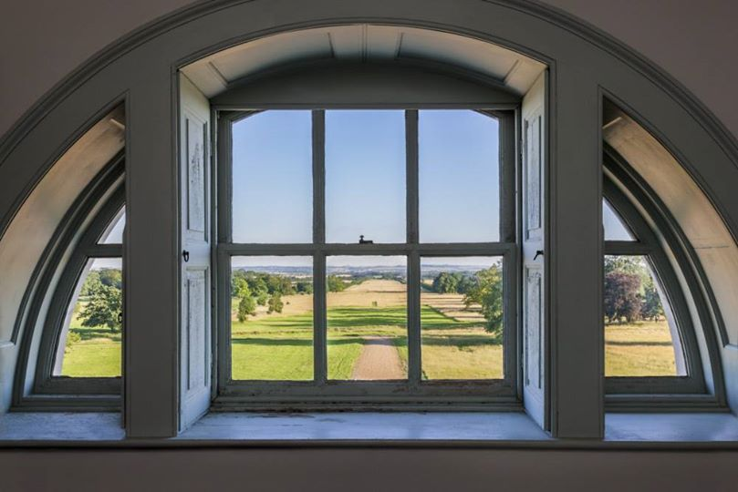 Wimpole Hall. South Avenue from central attic room.