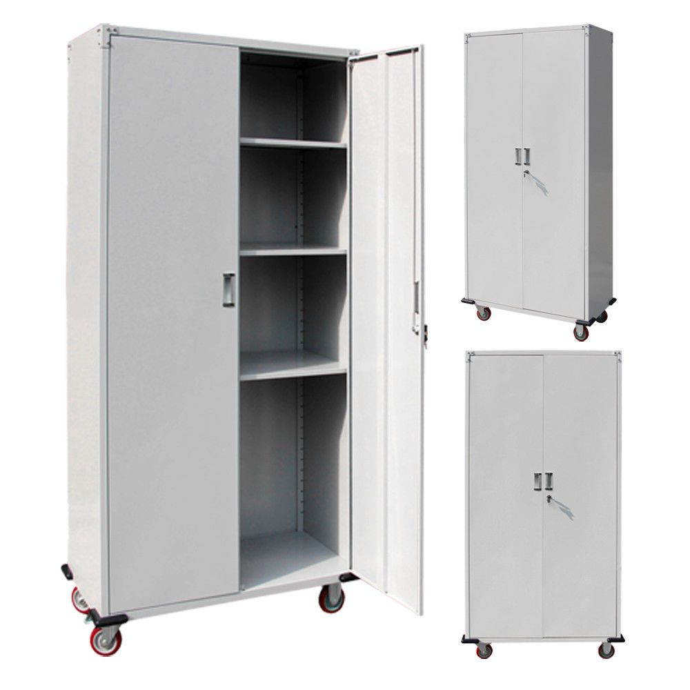 Rolling Garage Tool Box Storage Cabinet Shelving Door