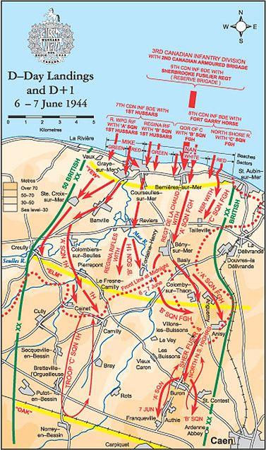 First Hussars Association London Ontario Canada Maps WW ll DDay