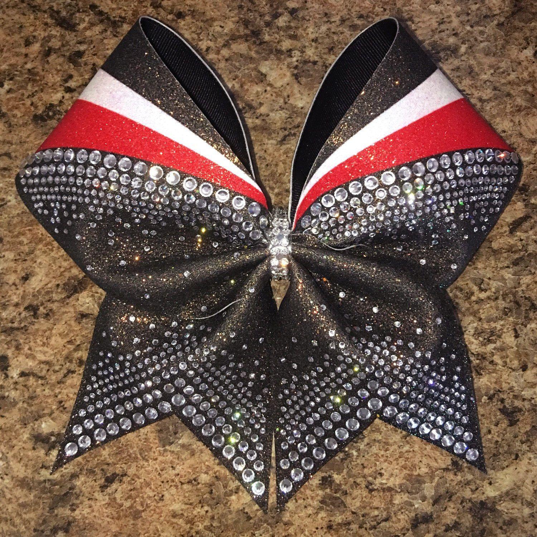 Rhinestone cheer bow badda bling bows bling cheer bows cheer bows cute cheer bows - Cute cheer bows ...