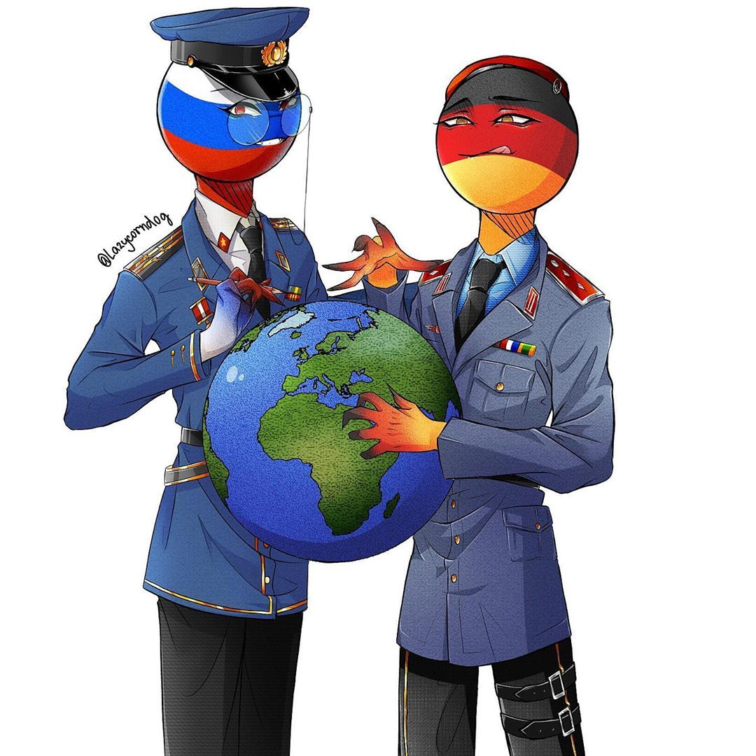 Germany and Russia! 🇩🇪🇷🇺 #countryhumans #countryhuman # ...