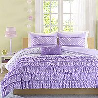 Mi Zone Ellen Ruffled Polka Dot Comforter Set - Mi Zone Ellen Ruffled Polka Dot Comforter Set