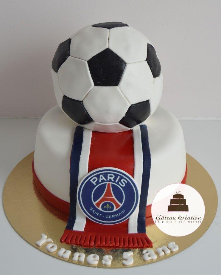 Gâteau Danniversaire Ballon De Foot Psg Commandez Dès Aujourdhui