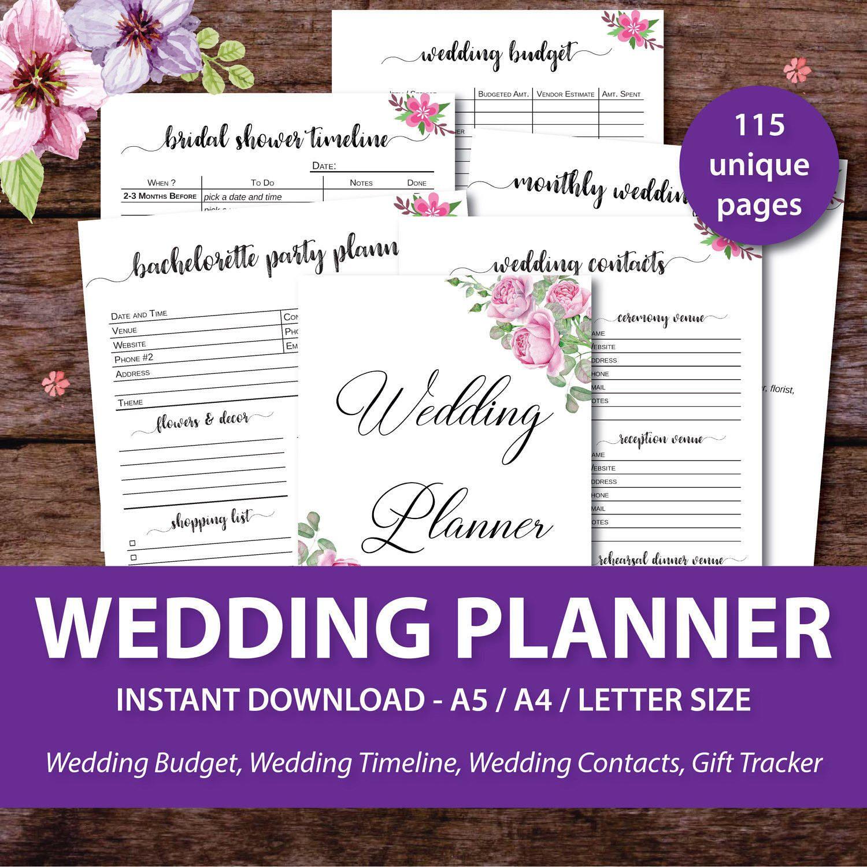 Wedding Planner Printable Wedding Binder Printables