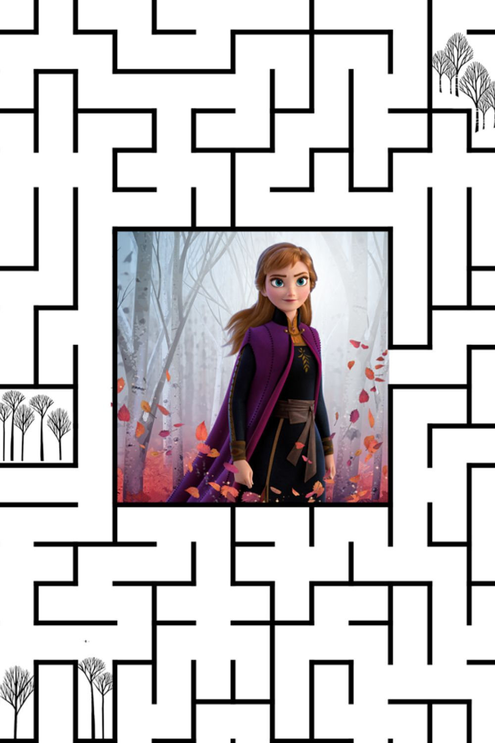 Help Kristoff And Sven Find Anna In The Enchanted Forest Tap The Pin To Download The Forest Maze Activity Sheet A Frozen Activities Activity Sheets Activities