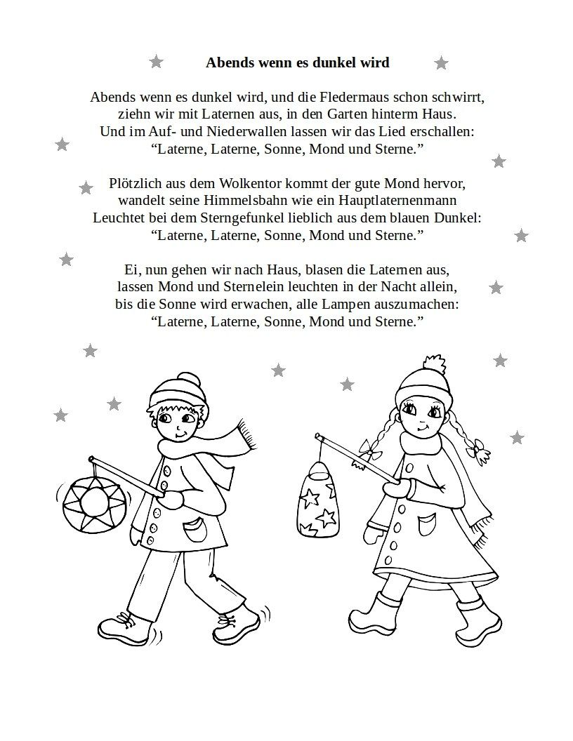 Sankt Martin   Teddylingua   Laterne lied, Lied, Kindergedichte