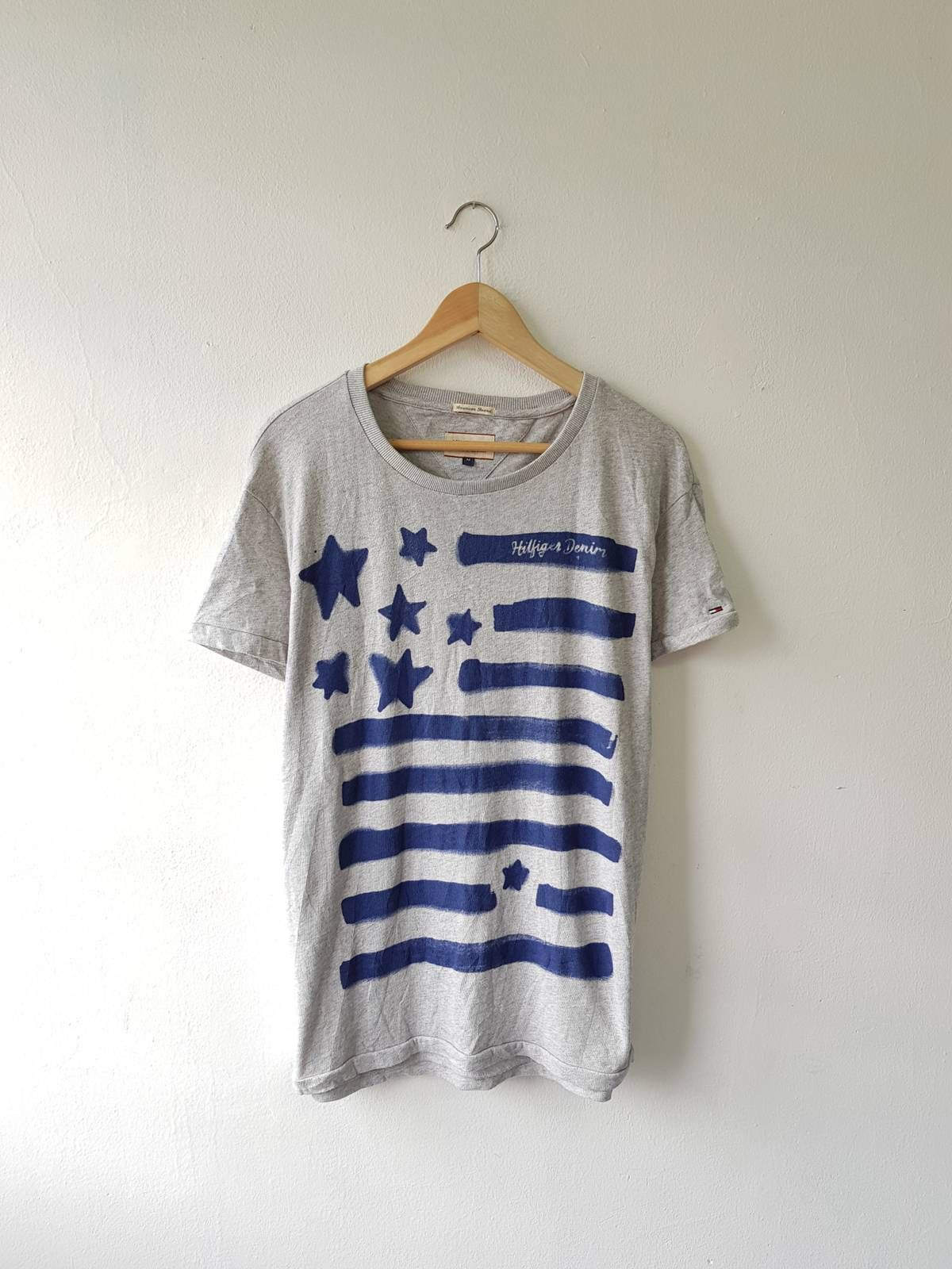 c8629a38 Buy Tommy Hilfiger Denim Giant USA Flag Graphic Printed Streetwear T-Shirt  Size M, Size: M, Description: Good Condition, no stain, damage or flaws.