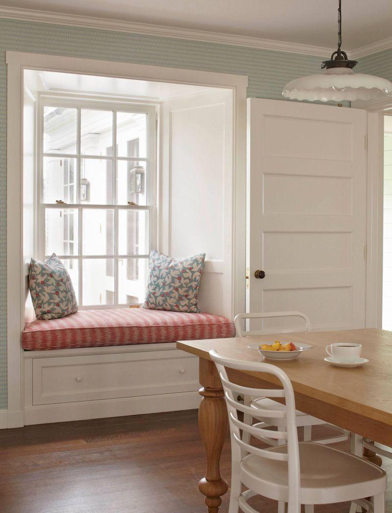 Marthas vineyard construction window seat kitchen house of turquoise cozy kitchen panel doors