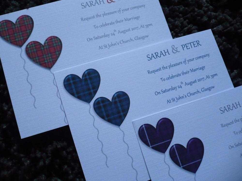 Wedding Invitations..Scottish..Tartan Print. pack of 10. in Home ...