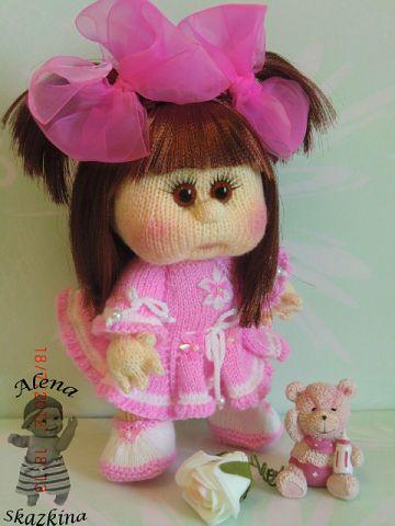 Кукла вязанная спицами схема и описание