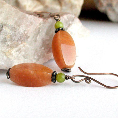 Colors of Autumn Stone Earrings by Pebbles at my Feet