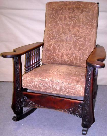 Vintage MORRIS ROCKING CHAIR, Arts & Craft, Mission For Sale | Antiques.com | Classifieds