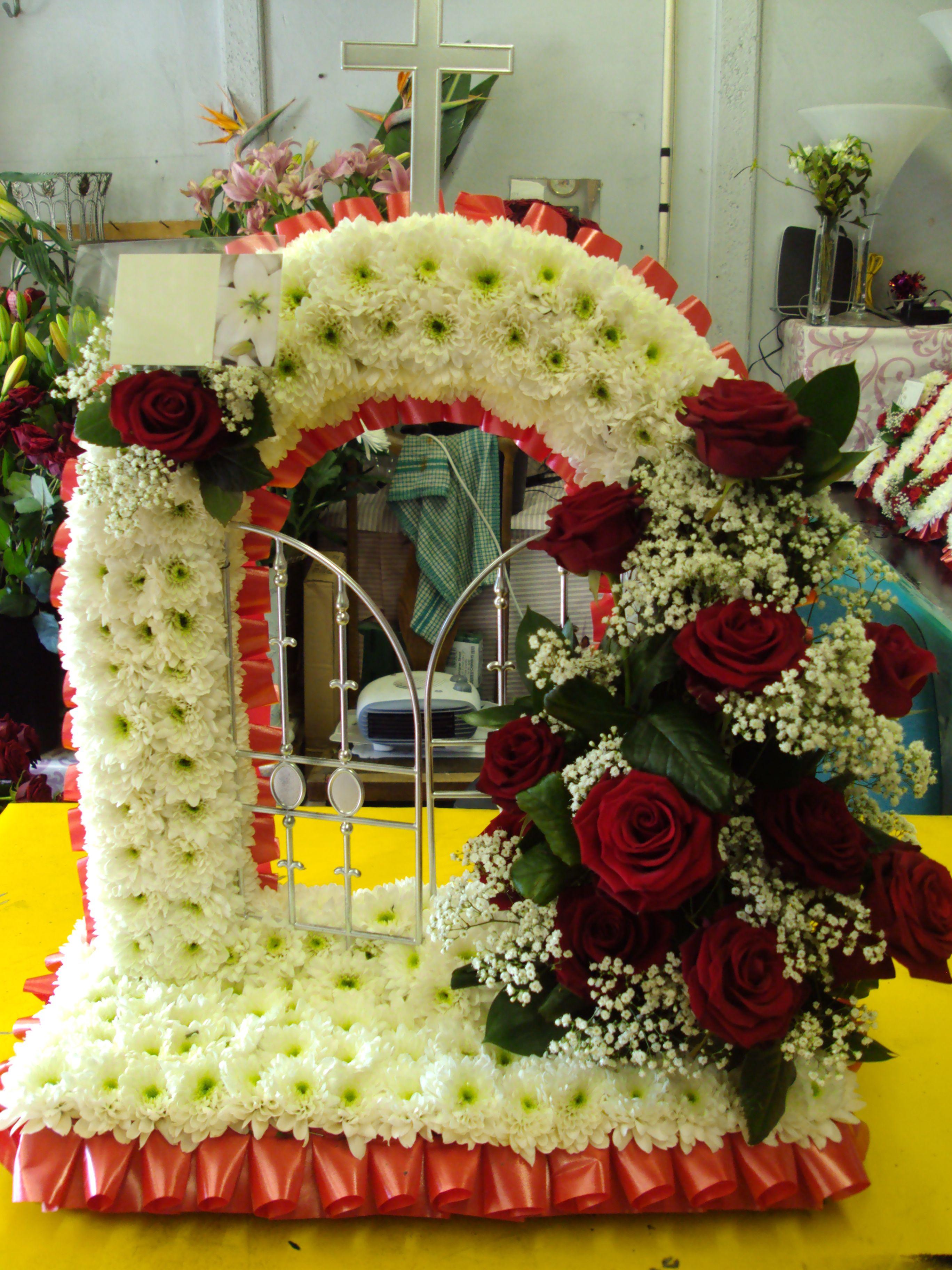 Gates of heaven redwhite funeral flowers pinterest gates and funeral flowers gates of heaven redwhite izmirmasajfo Choice Image