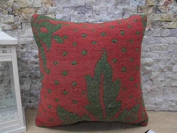 Anatolian traditional pillow cover 14x14 lumbar armchair pillow decorative pillow for couch boho sofa cushion home bolster pillow code 444