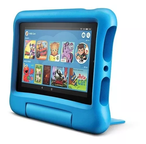Tablet Amazon Fire 7 Kids Edition 16gb Funda P Niños Celeste 12 999 00 Mochila De Protones Juguetes Para Niñas Accesorios Para Telefonos