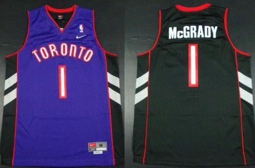 61a0ff2793f toronto raptors 1 tracy mcgrady hardwood classic black with purple swingman  jersey